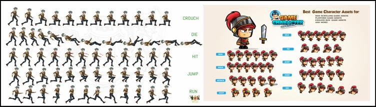 Example of animation sprites
